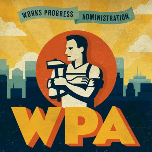 WPA poster created by WPA artists